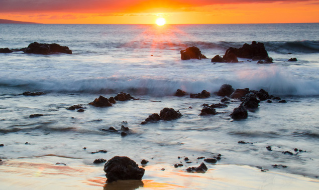 Sunset at Maui photo