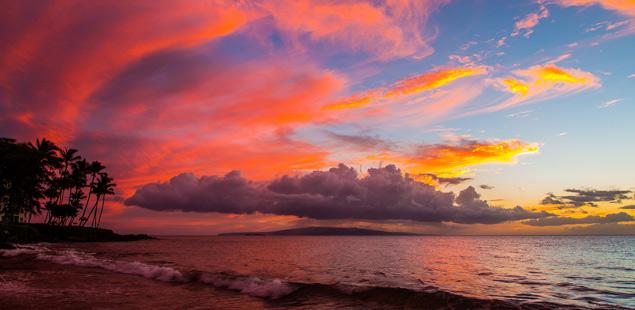 Mind boggling sunset on Maui