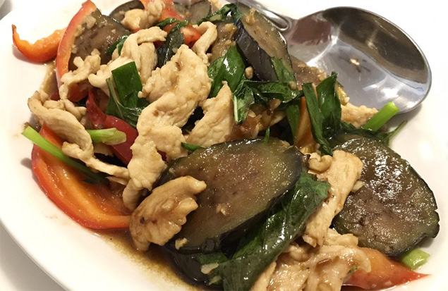 Thai basil and eggplant with chicken