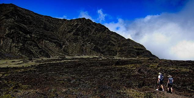 Hiking in Haleakala at 7,000 feet