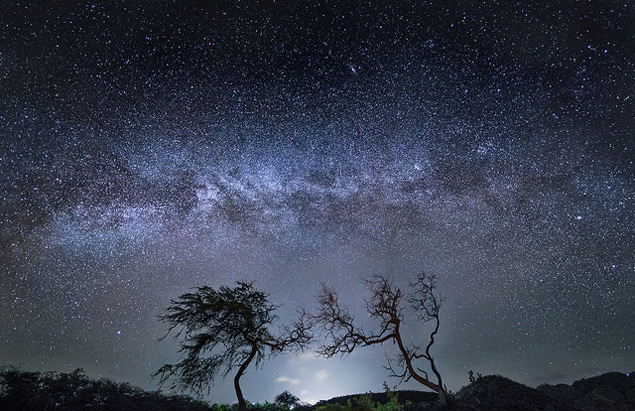 The Milky Way as seen from Maui