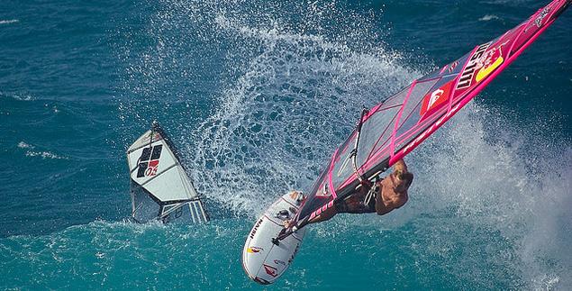 Hookipa, home of world-class windsurfing