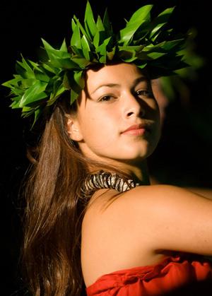 beautiful Hawaiian hula girl