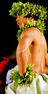 Merrie Monarch male hula dancer