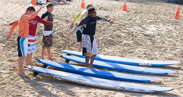 Photo of surf lessons in Waikiki, Hawaii