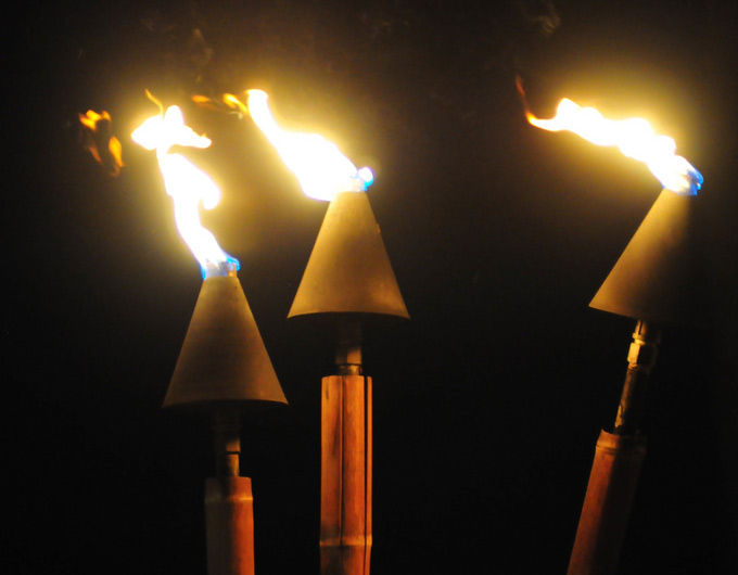 torches on Maui
