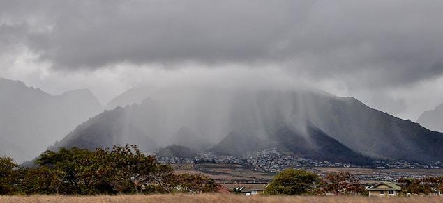 Maui raining
