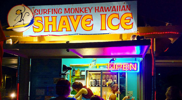 Surfing Monkey Shave Ice Maui