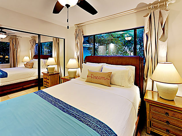 Maui Bliss villa Wailea vacation rental ohana unit bedroom