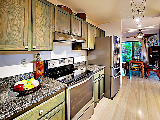 Maui Bliss villa Wailea vacation rental kitchen
