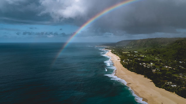 North Shore Oahu aerial photo